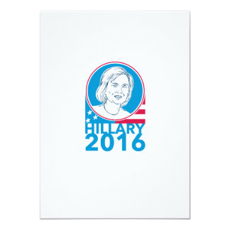 Hillary Clinton President 2016 Elections 4.5x6.25 Paper Invitation Card