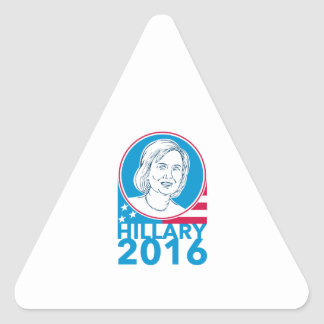 Hillary Clinton President 2016 Elections Triangle Sticker