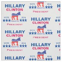 Hillary Clinton President 2016 Fabric