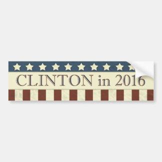 Hillary Clinton President 2016 Stars Stripes Bumper Sticker