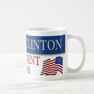 Hillary Clinton President 2016 USA Flag Coffee Mug