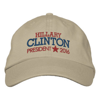 Hillary Clinton - President 2016 with Star Embroidered Hats