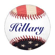 Hillary Clinton President Patriotic Flag Baseball