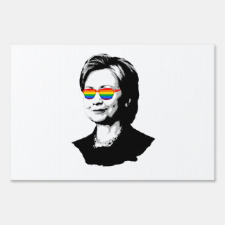 Hillary Clinton Pride Sign