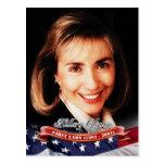 Hillary Clinton, primera señora de los E.E.U.U. Postales