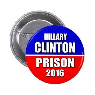 """""""HILLARY CLINTON PRISON 2016"""" 2.25-inch Button"""