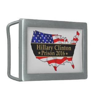 Hillary Clinton Prison 2016 Anti Hillary design Rectangular Belt Buckle