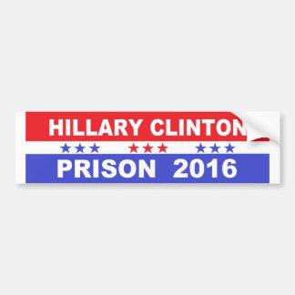 Hillary Clinton prison 2016 Bumper sticker