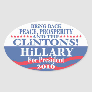 Hillary Clinton Prosperity 2016 Oval Sticker