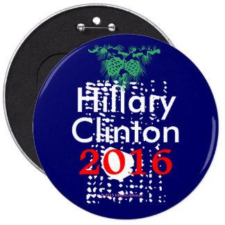 Hillary Clinton que siembra las semillas de la Pin Redondo De 6 Pulgadas