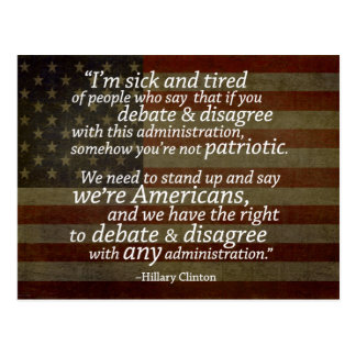 Hillary Clinton Quotation Postcard