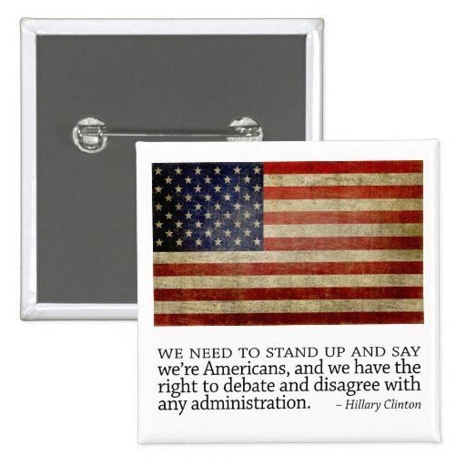 Hillary Clinton Quote Pinback Buttons