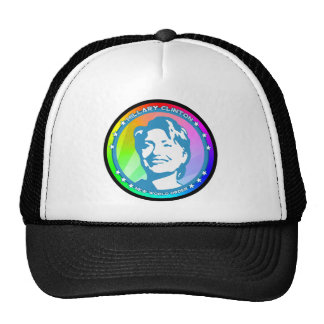 hillary clinton. rainbow. trucker hat