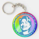 hillary clinton. rainbow. key chain