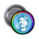 hillary clinton. rainbow. pins