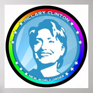 hillary clinton. rainbow. poster