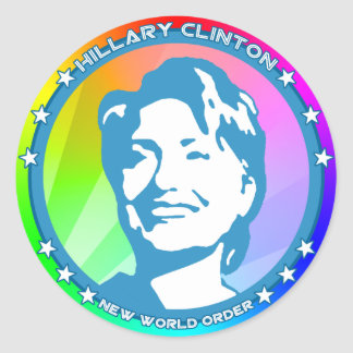 hillary clinton rainbow sticker