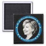 hillary Clinton: rayos azules: Imán Cuadrado