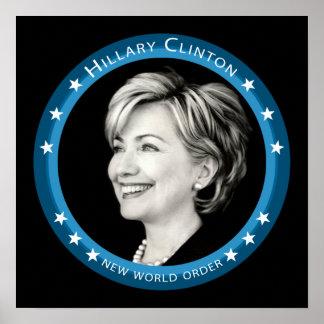 hillary Clinton: rayos azules: Impresiones