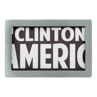 Hillary Clinton Rectangular Belt Buckle