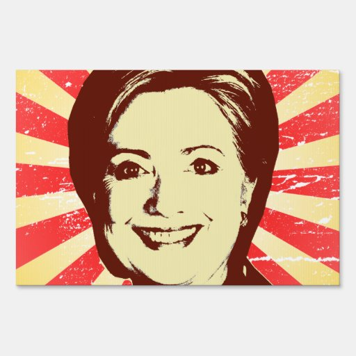 HILLARY CLINTON RED HEAD.png Lawn Signs