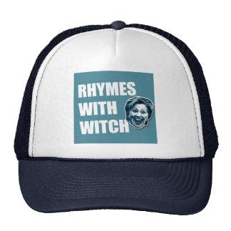 Hillary Clinton Rhymes Trucker Hat Baseball Cap