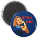 Hillary Clinton, Rosie el remachador, encima el su Iman De Frigorífico