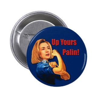 Hillary Clinton, Rosie el remachador, encima el su Pin Redondo De 2 Pulgadas