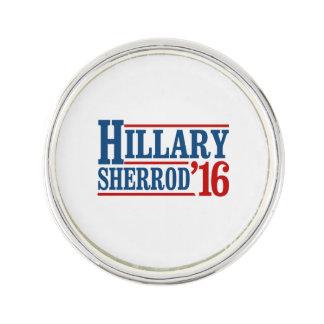 Hillary Clinton / Sherrod Brown 2016 Lapel Pin