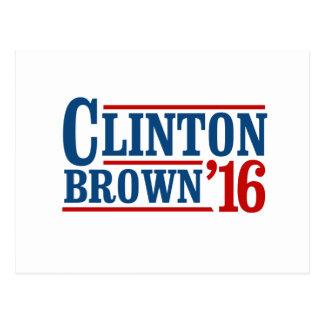 Hillary Clinton / Sherrod Brown 2016 Postcard