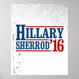 Hillary Clinton/Sherrod Brown 2016 Póster