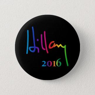 Hillary Clinton Signature Rainbow Pride Button