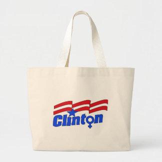 Hillary Clinton + Símbolo femenino Bolsa Tela Grande