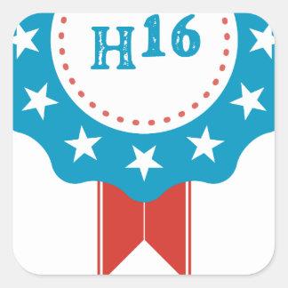 Hillary Clinton Square Sticker