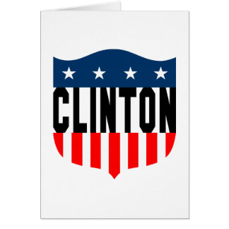 hillary clinton stars and stripes greeting card