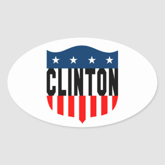 hillary clinton stars and stripes oval sticker
