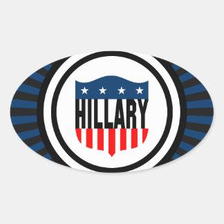 hillary clinton stars and stripes oval sticker