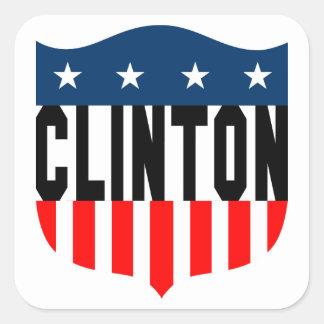 hillary clinton stars and stripes square sticker