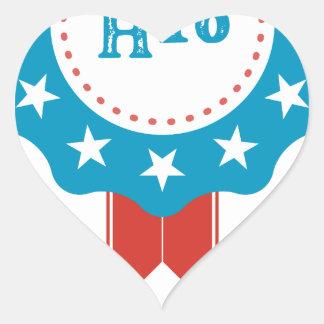 Hillary Clinton Heart Sticker