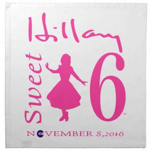 Hillary Clinton Sweet 16 Napkins