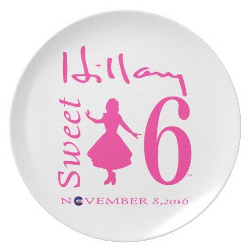 Hillary Clinton Sweet 16 Dinner Plates