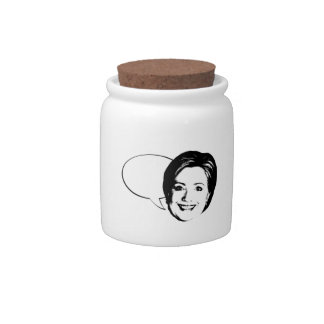 HILLARY CLINTON TALK BUBBLE -.png Candy Dish