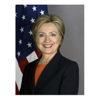 Hillary Clinton Tarjeta Postal