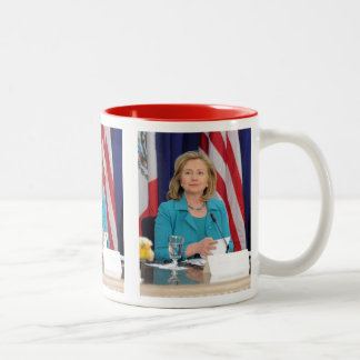 Hillary Clinton Taza Dos Tonos