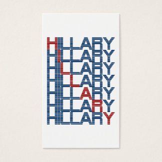 hillary clinton textStacks Business Card