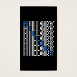 hillary clinton textual business card