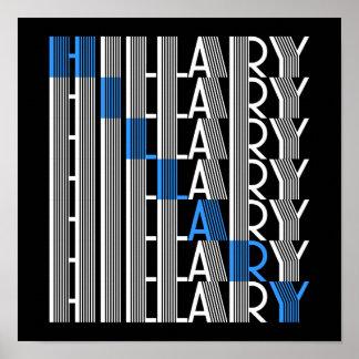 hillary Clinton textual Póster