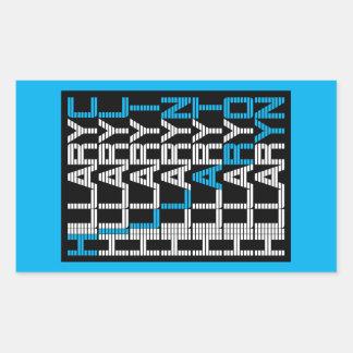 hillary clinton textual rectangular sticker