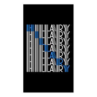 hillary Clinton textual Tarjetas De Visita