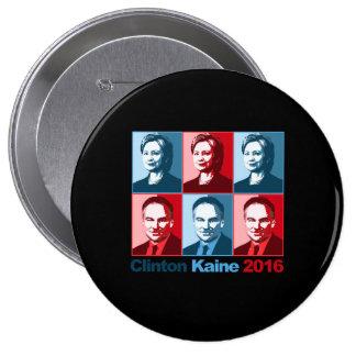 Hillary Clinton Tim Kaine 2016 - Block Art - Button